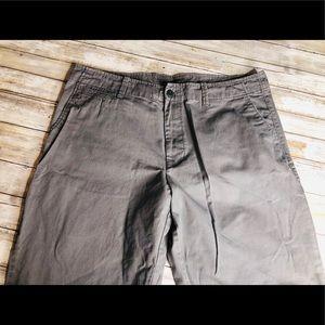 Old Navy Light Gray Loose Khaki Pants 36W 30L